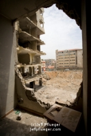 Bombed building in Dahiyeh, South Beirut, Lebanon 8 months after
