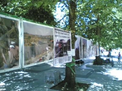 Част от снимките, които бяха изложени пред Борисовата градина в София.