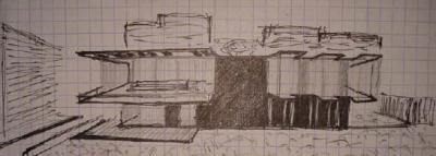 Скица,направена от Дамян Сардарев в началото на неговото обучение.